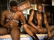 gay porn interracial - Black leather scene 1